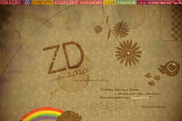 ZD Jeans web-site Coleção 2009