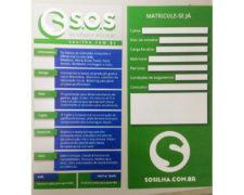 Panfletos SOS Captação – Tiragem 25mil